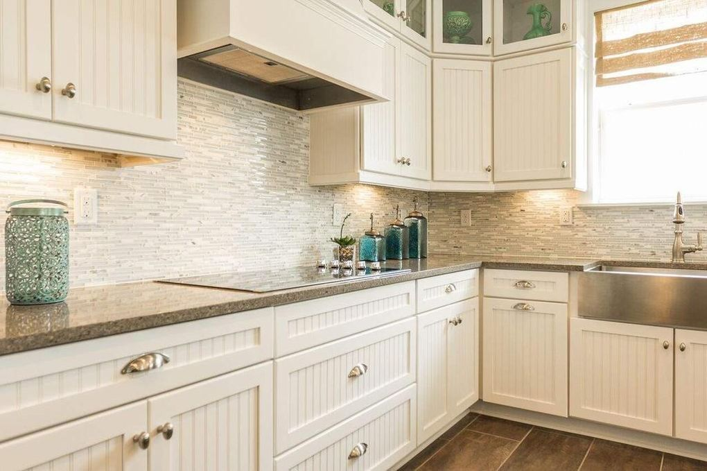 beadboard cabinets with shell hooks | Beach kitchens, Palm ...