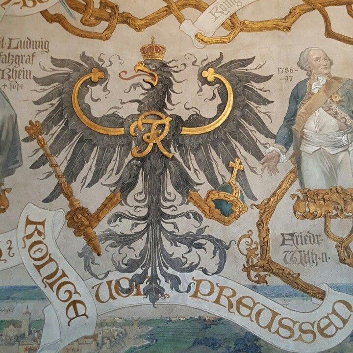 Wandmalerei in Schloss Burg