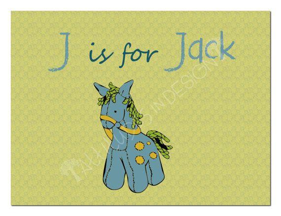 Printable Nursery Art  Stuffed Pony  by attitudesindesign on Etsy, $11.00