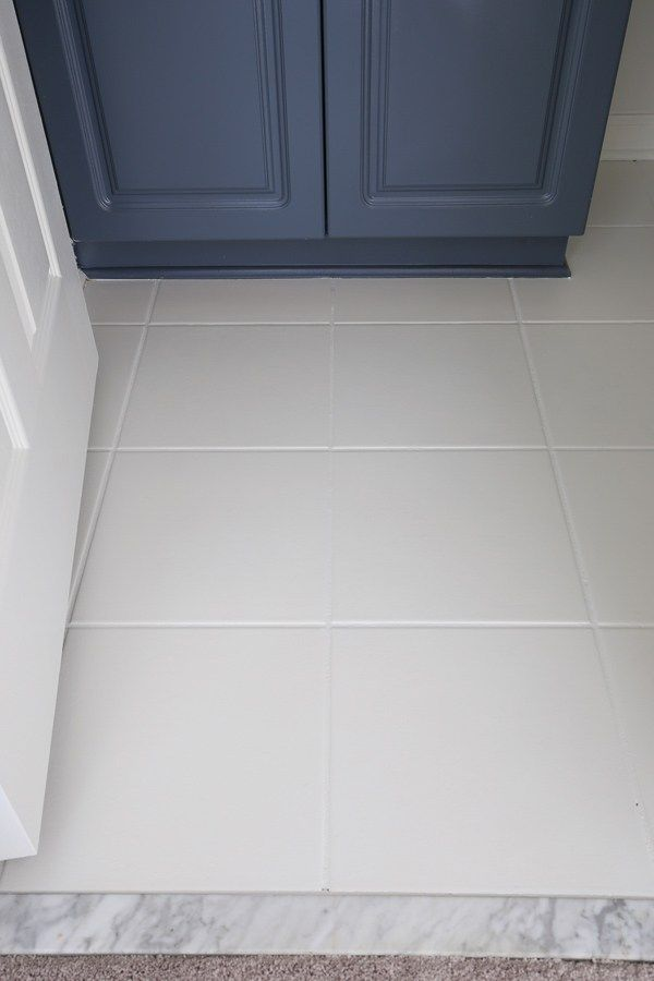 How To Paint Tile Floor In A Bathroom Tile Floor Diy Painted Bathroom Floors Painting Tile Floors