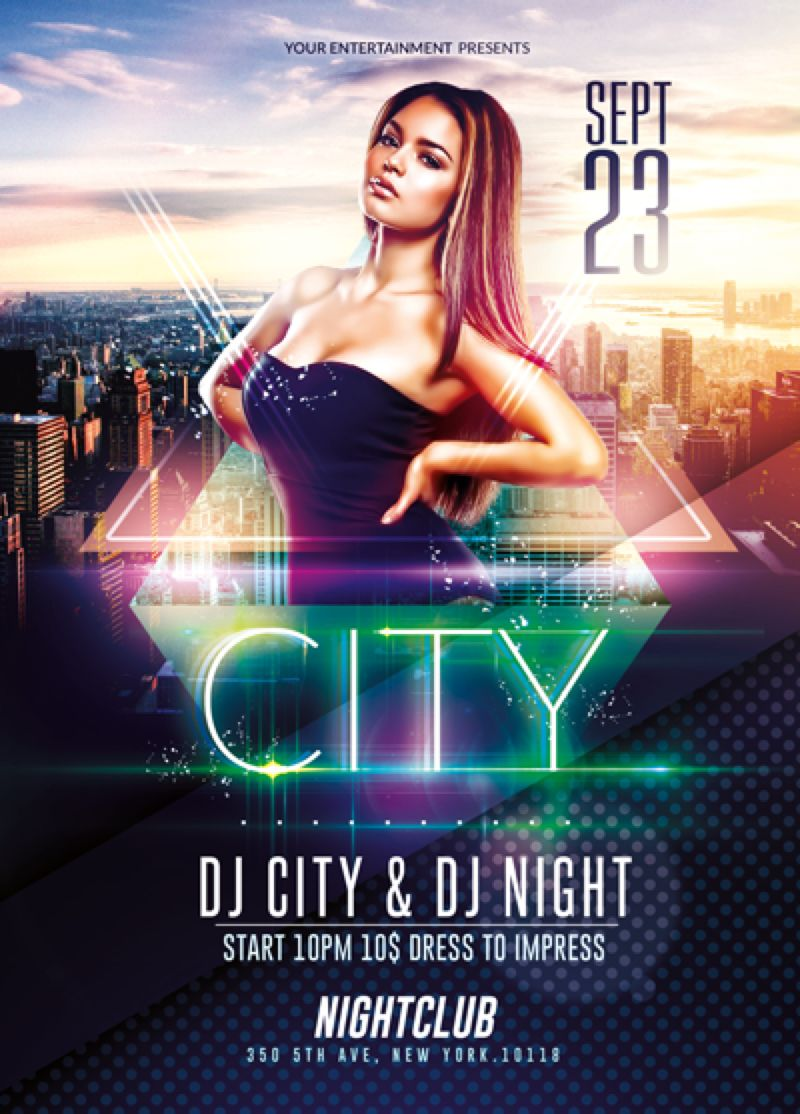 Elegant City Event | Psd Flyer Template by RomeCreation on ...