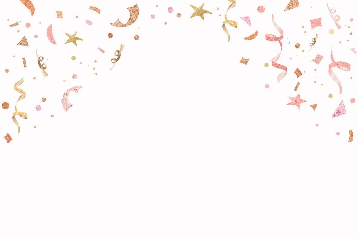 Download Premium Vector Of Cute Vector Festive Ribbons New Year Confetti Background Party Background New Year Celebration