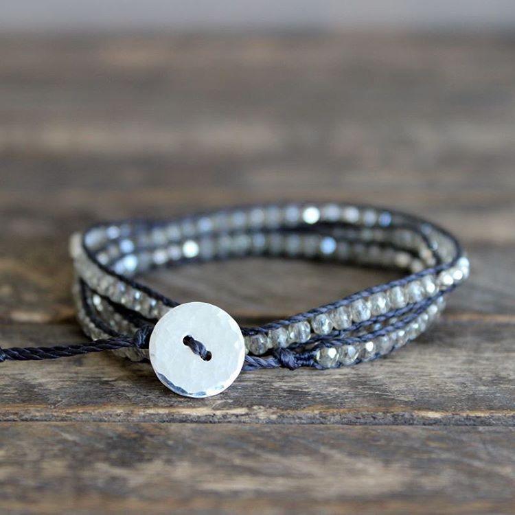 Czech + Pyrite Triple Wrap Bracelet