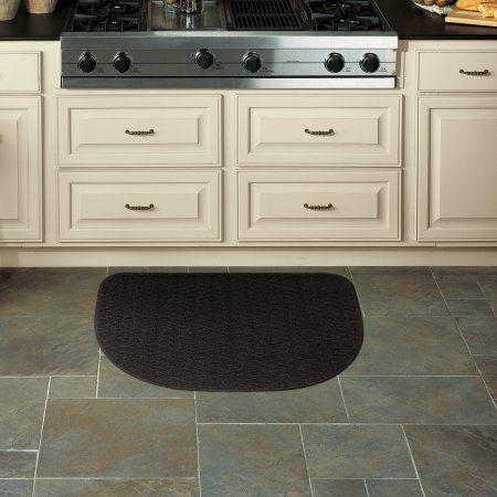 Mohawk Home Rank File Slice Kitchen Mat Black 18 Inch X 27