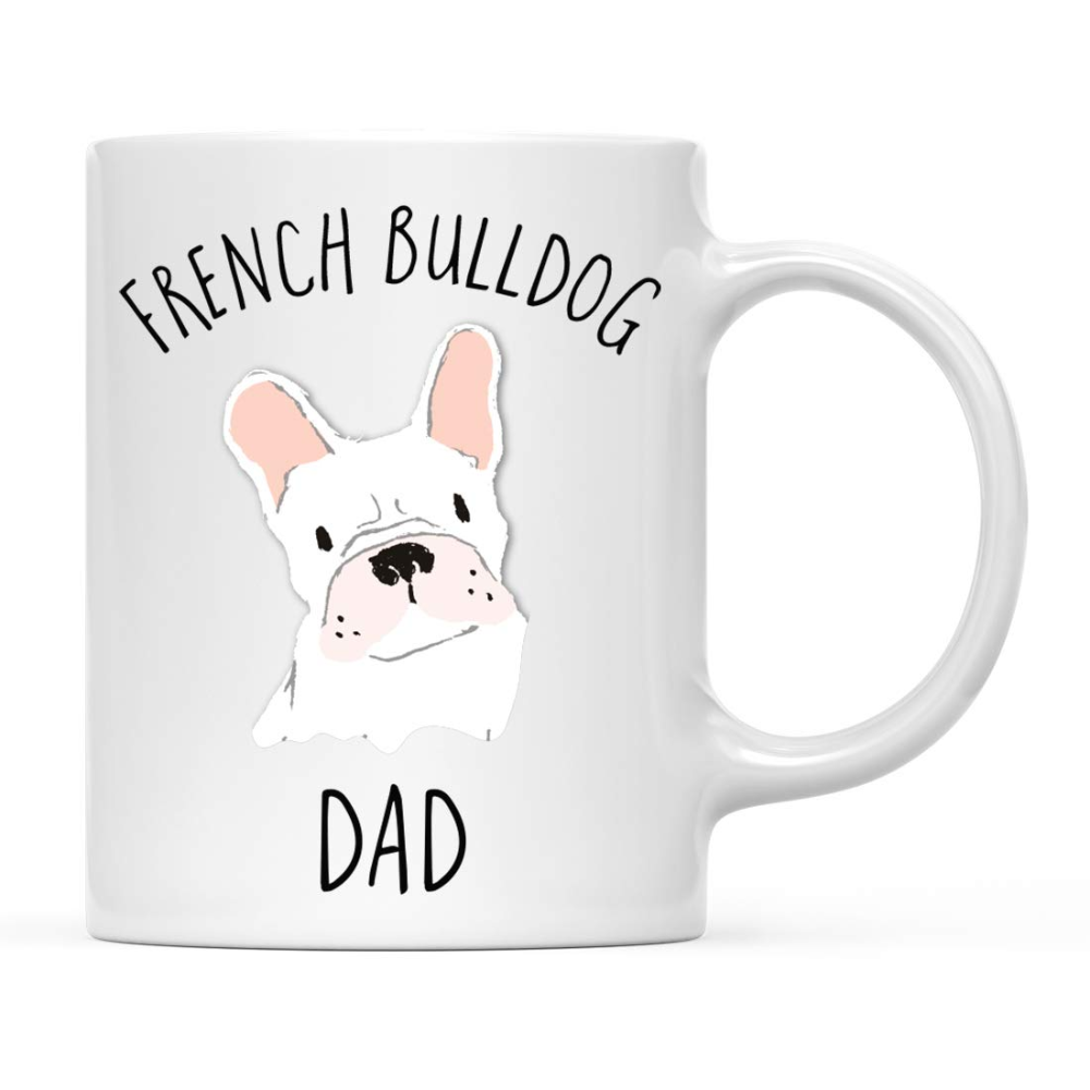 Amazon.com: Andaz Press Funny Dog 11oz. Coffee Mug Gift, White French Bulldog Dog Dad, 1-Pack, Novelty Birthday Christmas Cup Gifts Ideas for Dog Lovers: Health & Personal Care