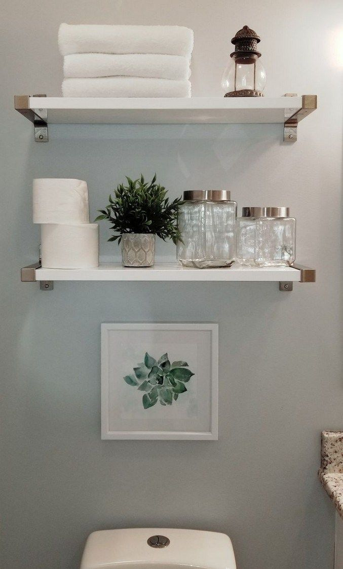 25 Easy Diy Bathroom Shelves For Storage Solution 48 Restroom Decor Small Bathroom Decor Bathroom Decor