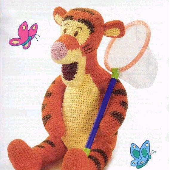 Vintage Crochet Pattern Winnie der Pooh von BabyVintagePatterns ...