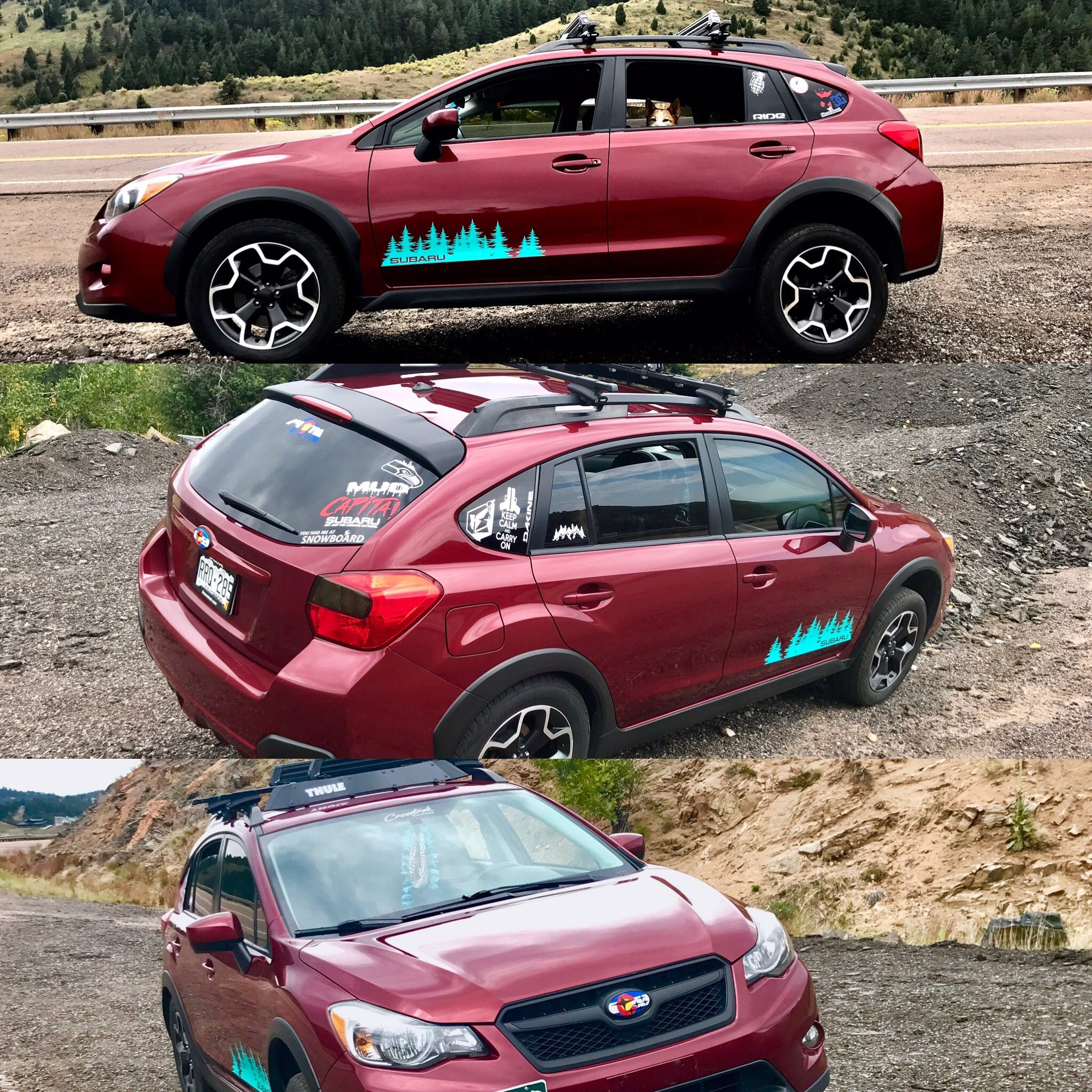 A Little Goes A Long Way Got The Chrome Delete Done On The Crosstrek Thanks To Lucid Wraps Blacked Out Grille And Spoiler Subaru Crosstrek Subaru Dream Cars