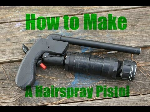 How to build a PVC Hairspray Pistol - YouTube | Guns