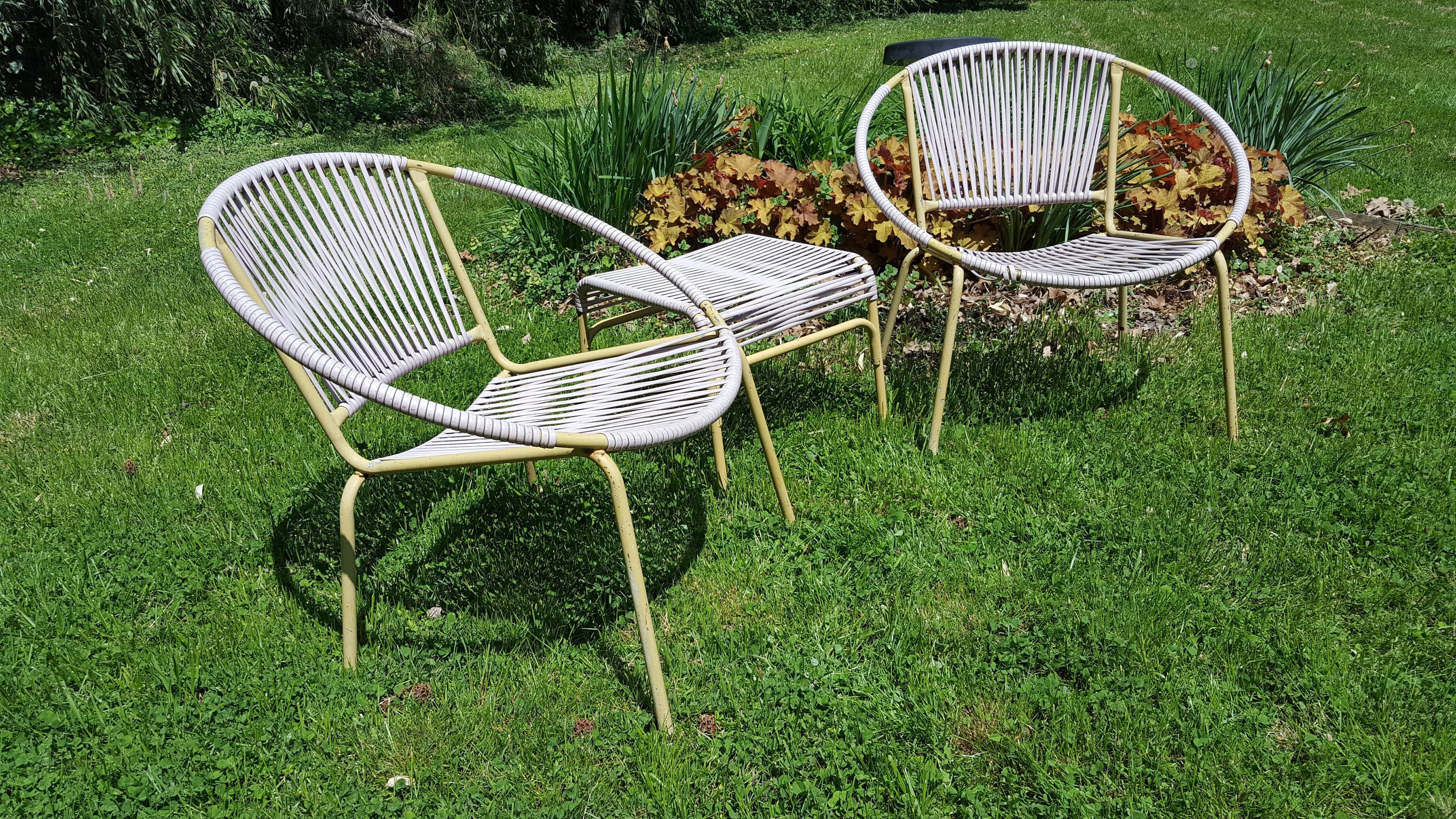 Vintage Patio Furniture By Ames Aire Mid Century Modern Patio Furniture Sling Chairs Mid Century Modern Patio Furniture Modern Patio Furniture Vintage Patio
