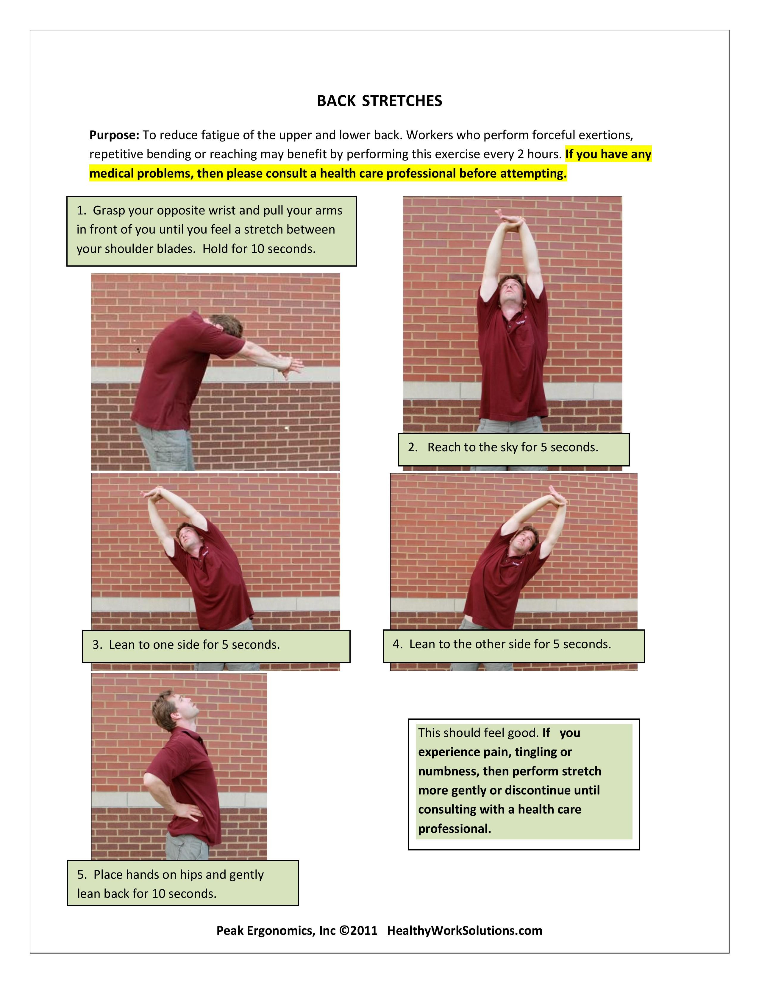 Ergonomics 101 preventative streching series part 2