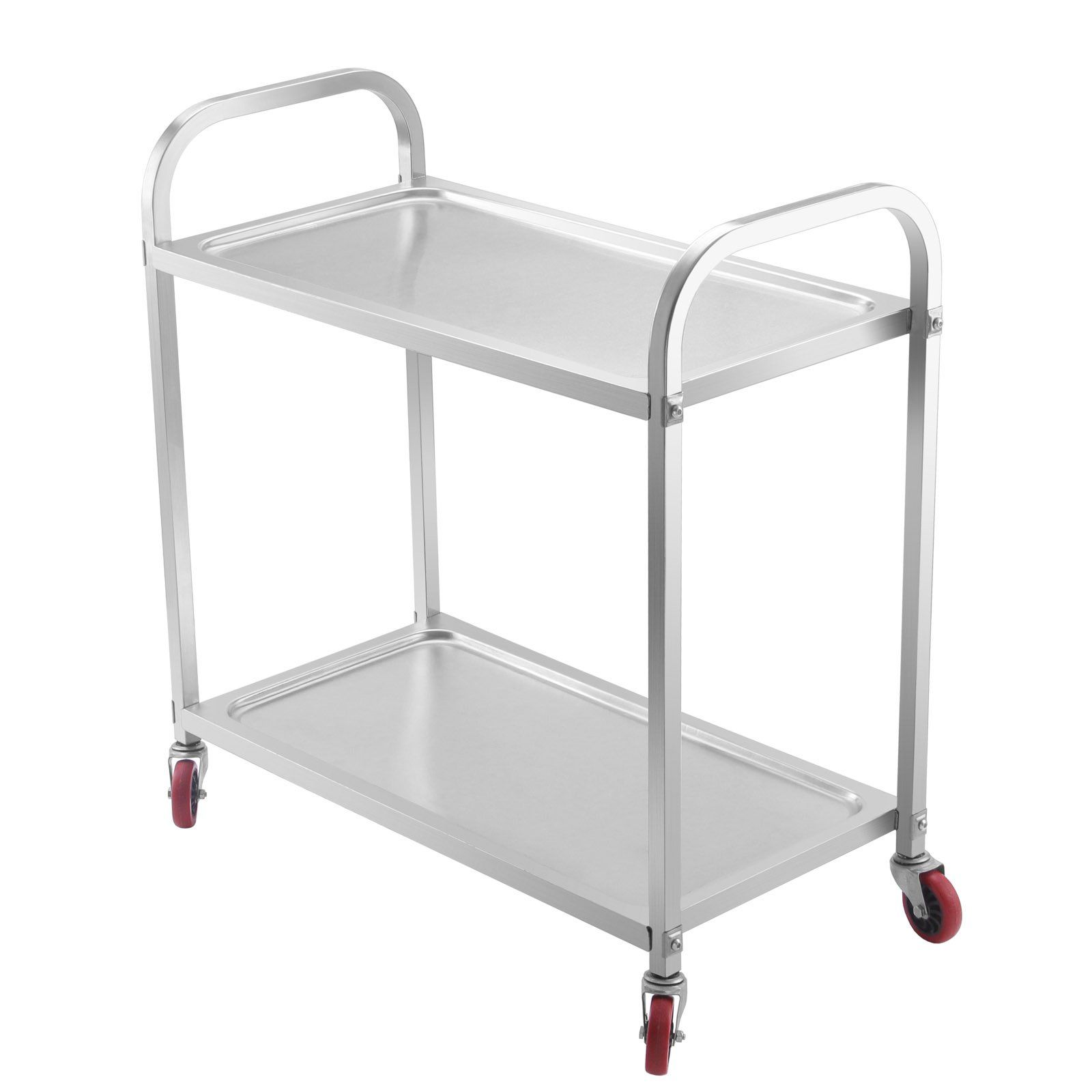 Nice Mophorn 2 Shelf Stainless Steel Cart With Storage Utility Cart On Wheels Heavy  Duty Kitchen Cart