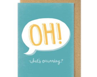 Gavin and stacey oh whats occurring card nessa quote welshisms gavin and stacey oh whats occurring card nessa quote welshisms card welsh slang wales cymru south wales welsh greetings card m4hsunfo