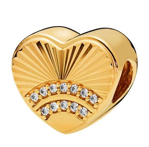 1 pc European Bead, Gold Heart Charm 10mm, Large Hole Bead, Fits 95 Silver or Fits Pandora Charm Bra -  1 pc European Bead, Gold Heart Charm 10mm, Large Hole Bead, Fits 95 Silver or Fits Pandora Charm Br - #10mm #Bead #Bra #Charm #cuteweddingdress #European #Fits #Gold #Heart #Hole #Large #pandora #pandoracharms #pandorarings #Silver #weddingbride