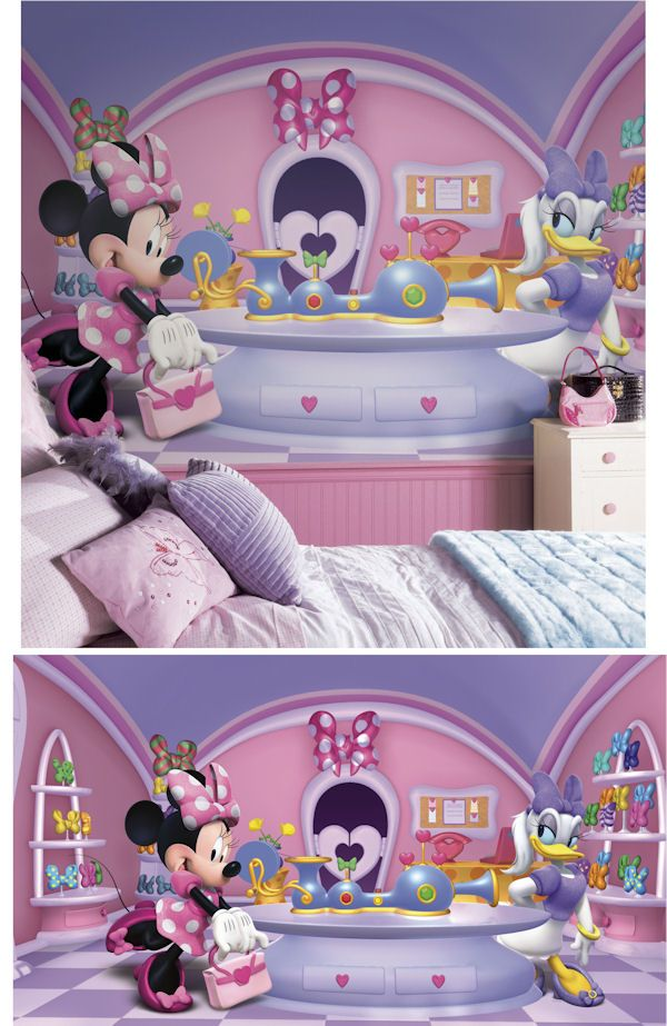 Minnie Mouse Fashionista XL Wall Mural   Wall Sticker Outlet