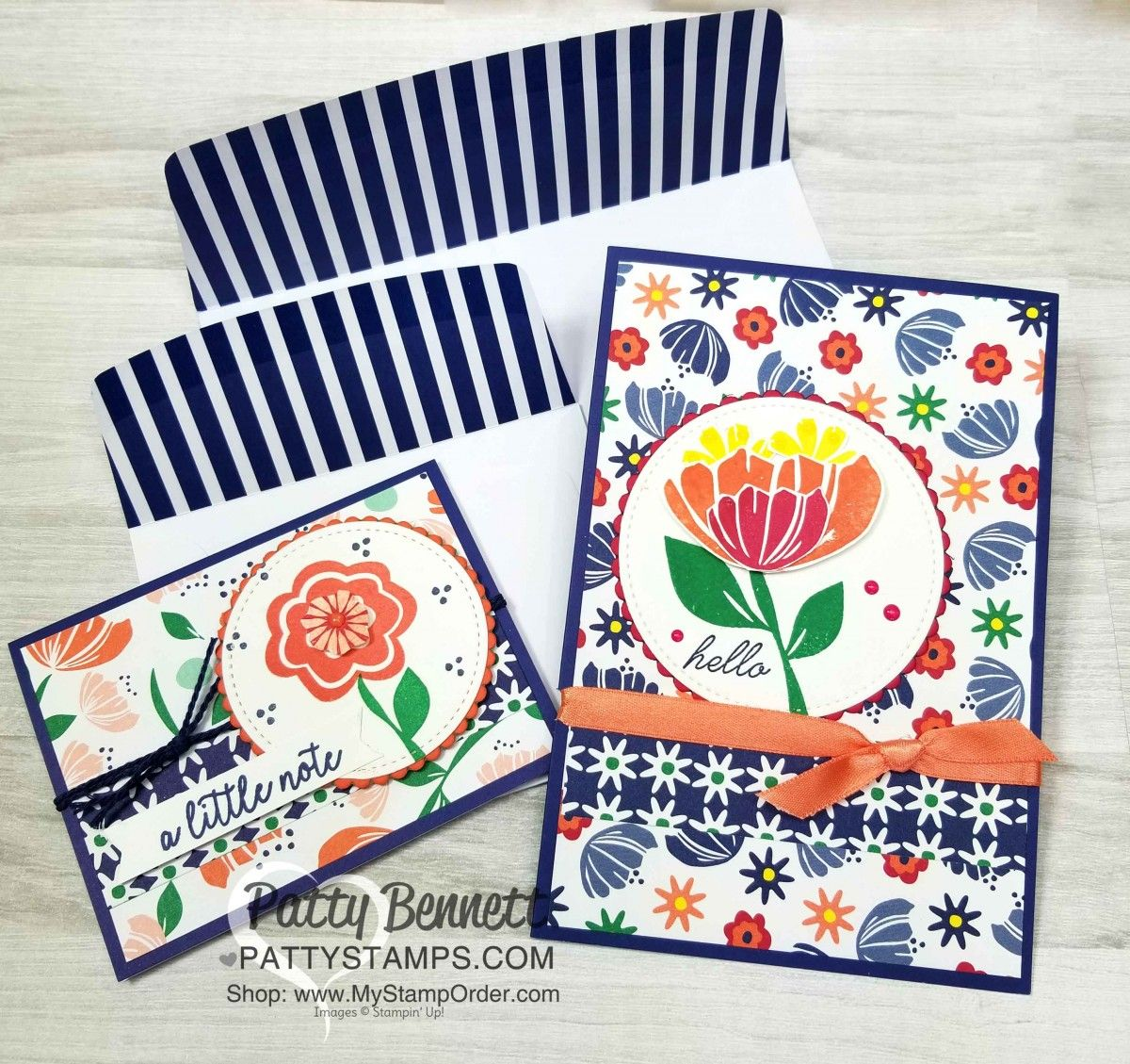 Happiness Blooms Memories And More Cards Created With Stampin Up Card Pack Envelope Featuring Bloom By Stamp Set