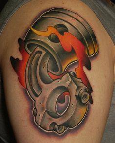 Gearhead Tattoo Google Search Tattoo Tattoos Piston Tattoo