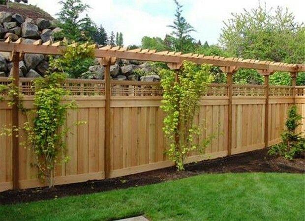 Pin By Traci Rice On Landscape Backyard Fences Backyard Privacy Fence Designs