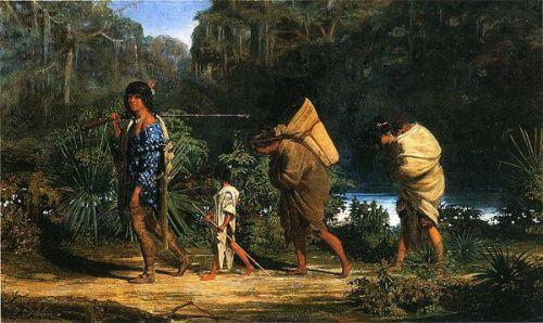 Indians Walking Along A Bayou by Alfred Boisseau kp