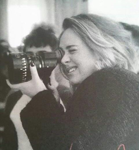 Adele on the other side of the camera