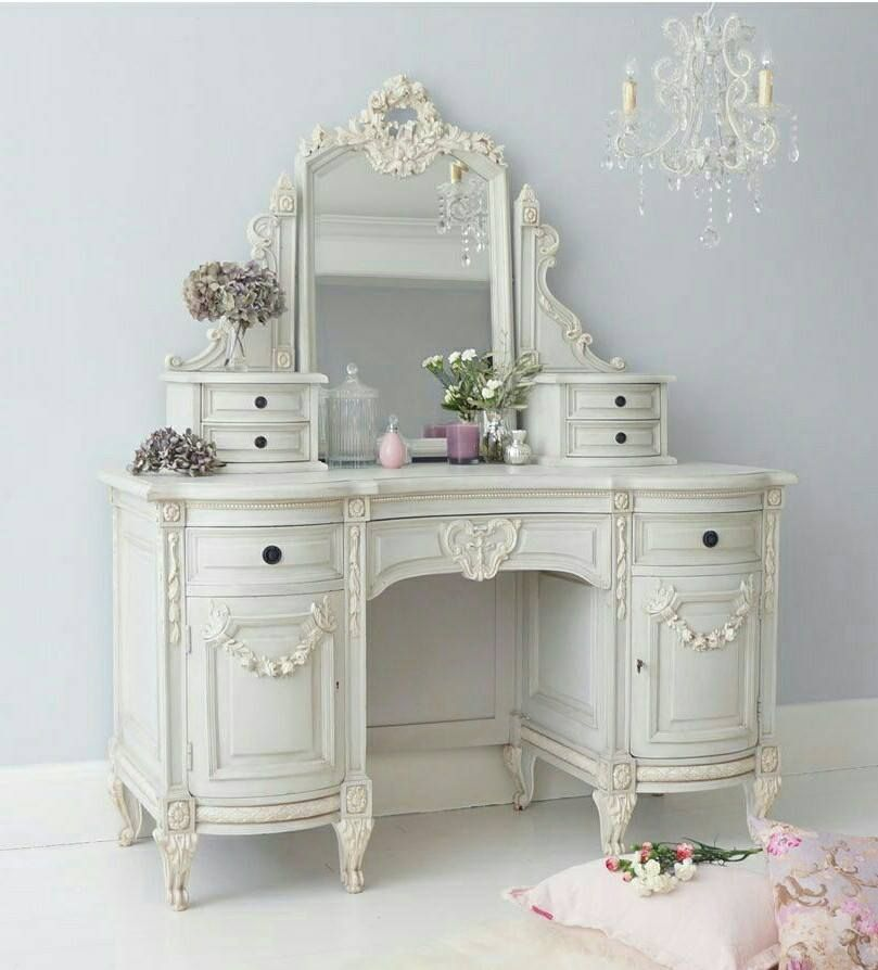 French Vanity Shabby Chic Dressing Table Shabby Chic Dresser Shabby Chic Furniture