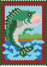 PRIZE FISH BEADED BANNER PDF PATTERN ONLY