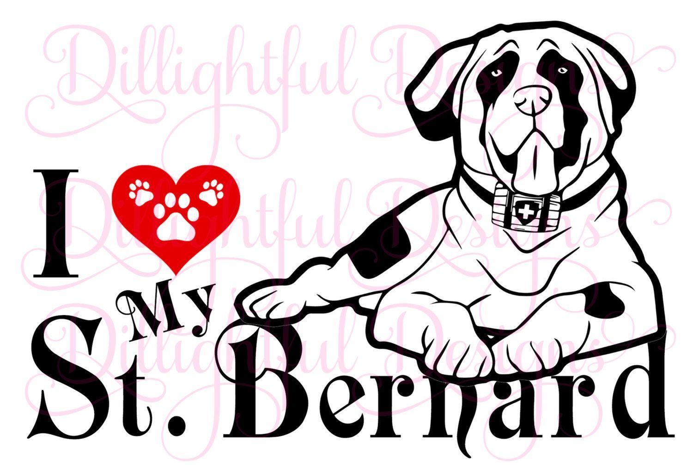 Saint Bernard Mom Windshield Sticker Vinyl Auto Window st st