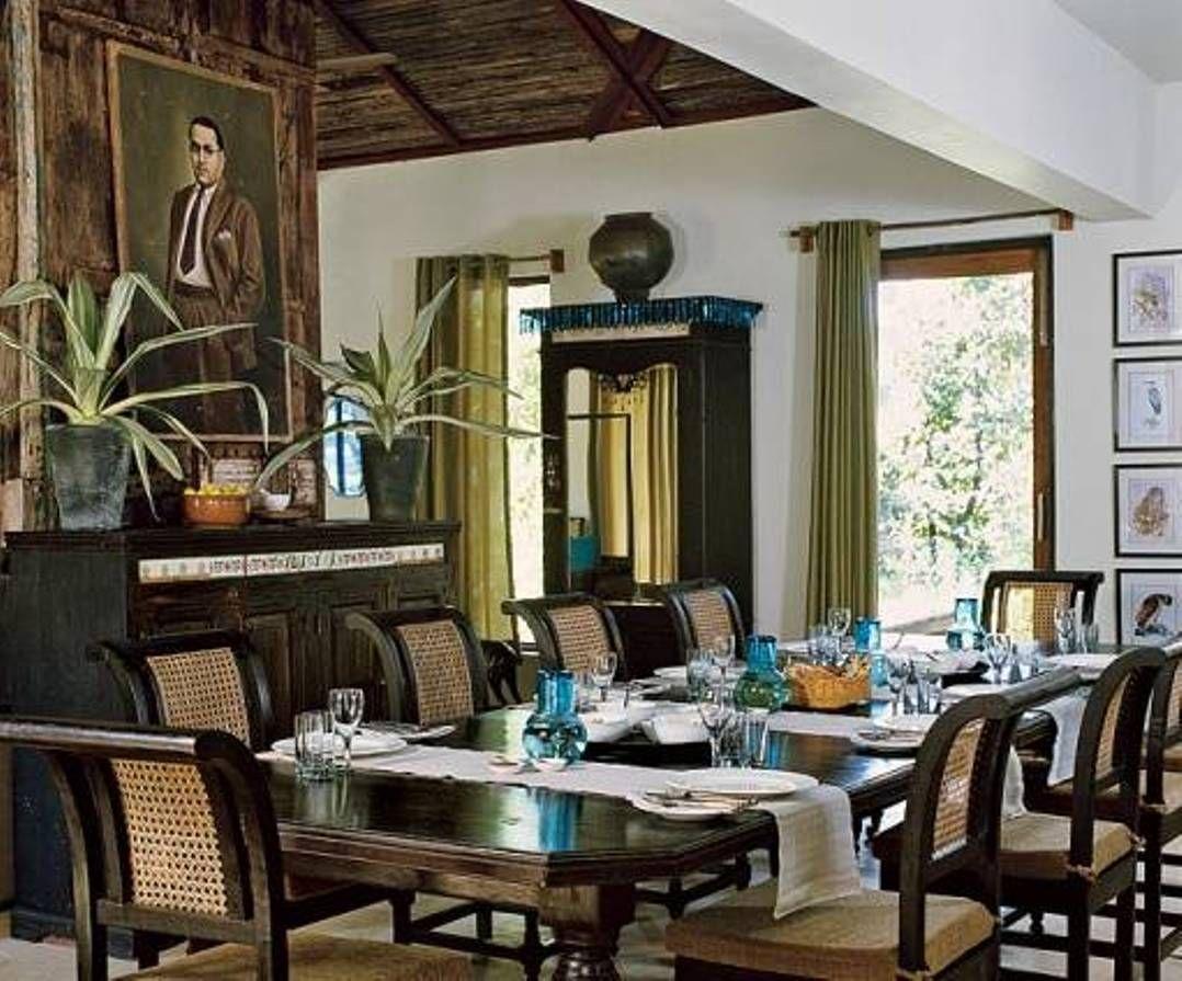 Dining Room British Colonial House Interior Design Exotic Spirit