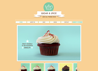 Use The Sugar And Spice Html Template With Its Bright Colors And Clear Images To Build Your Online Store Website Template Free Website Templates Wix Templates