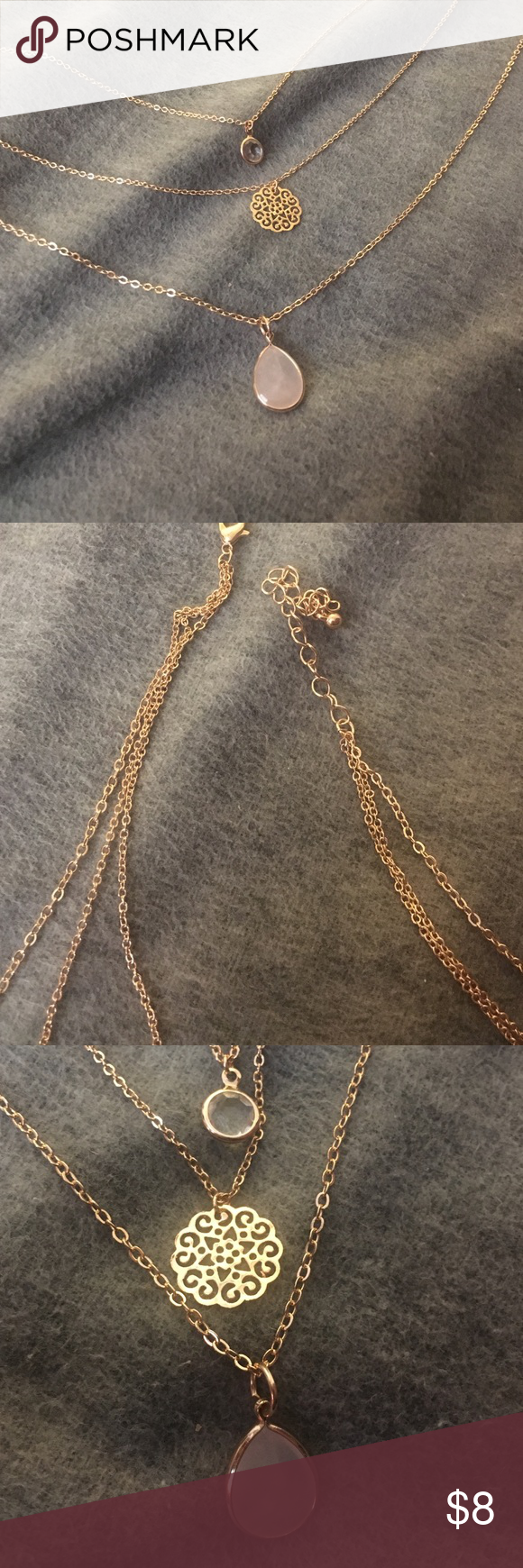 Layered necklace!!! Never worn. I bought this from forever 21. I love it, but it just doesn't match with anything I own. Forever 21 Jewelry Necklaces