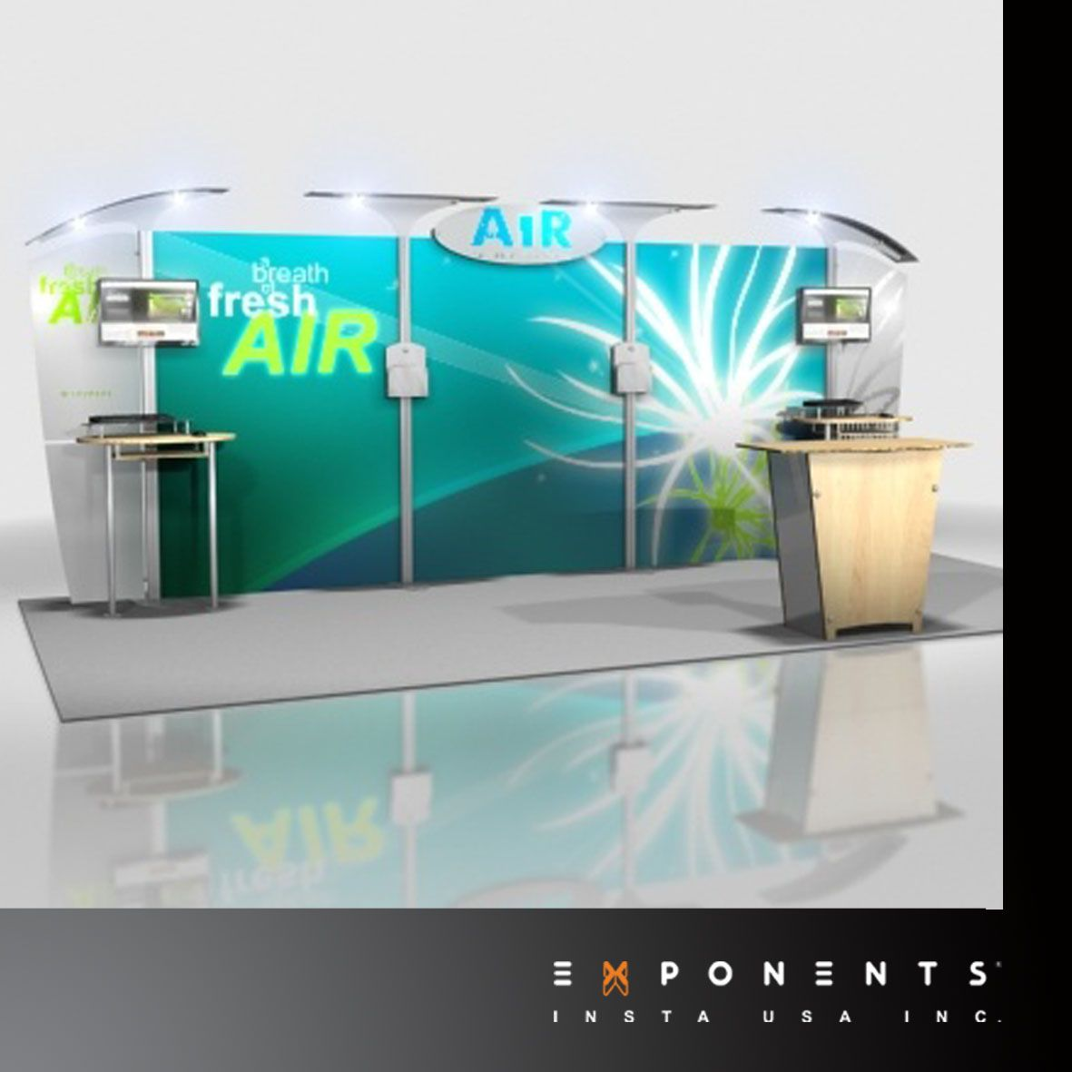 Portable Exhibition Cabinet : Portable display booth airtm exhibition system offers stable