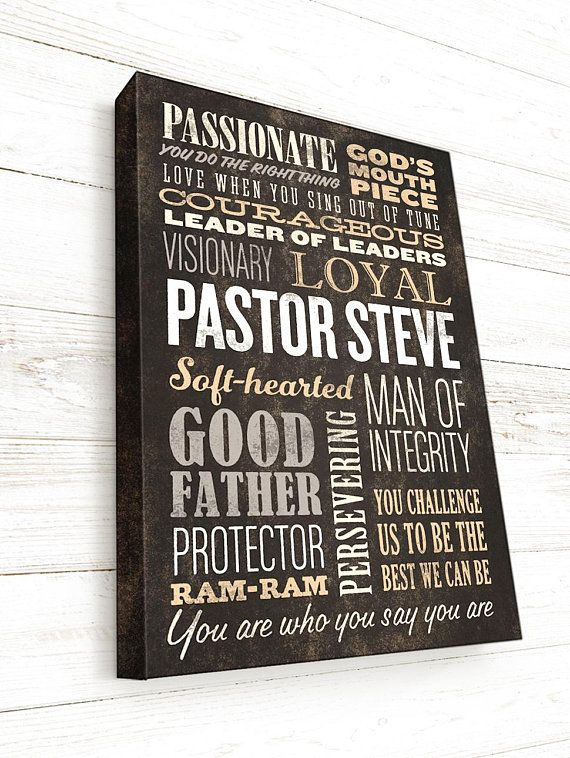 pastor gift minister gift priest gift word art custom word canvas personalized word collage sign on canvas