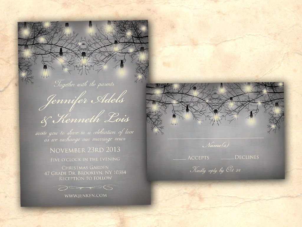 Rustic Clic Winter Wedding Invitation
