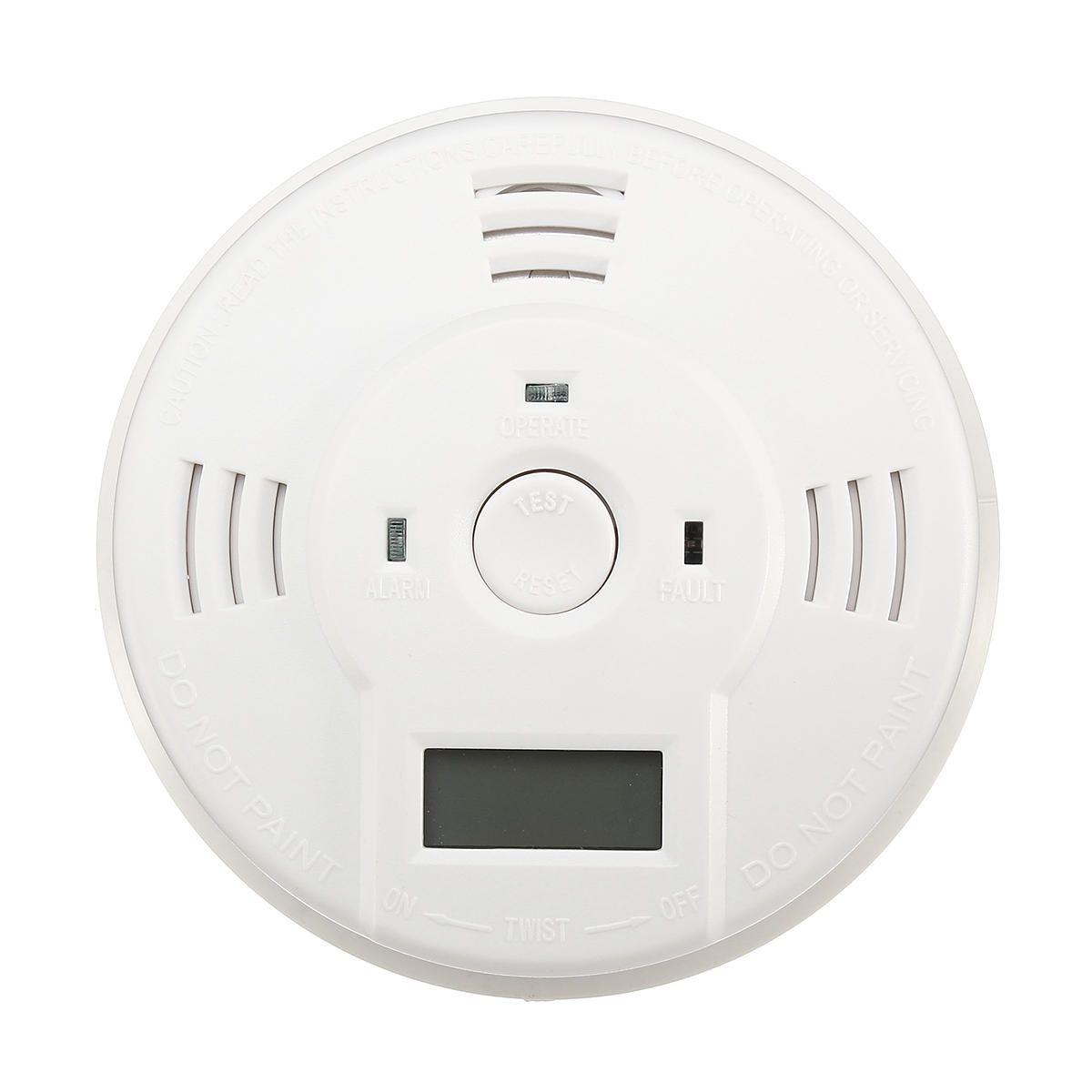 LCD CO Carbon Smoke Monoxide Poisoning Sensor Alarm Gas Warning Detector Voice