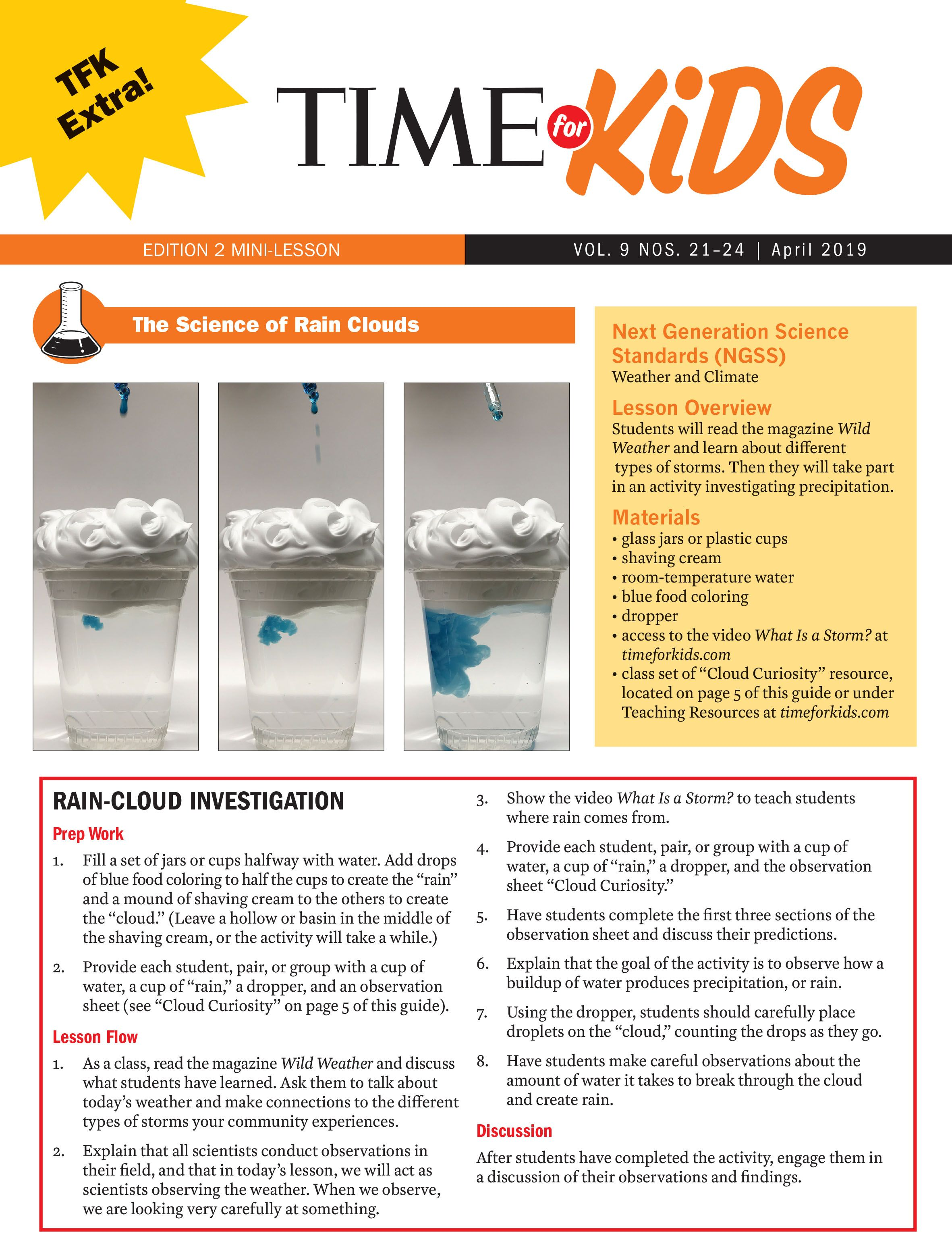 Rain Cloud Activity Grade 2 Cloud Activities Next Generation Science Standards Weather And Climate