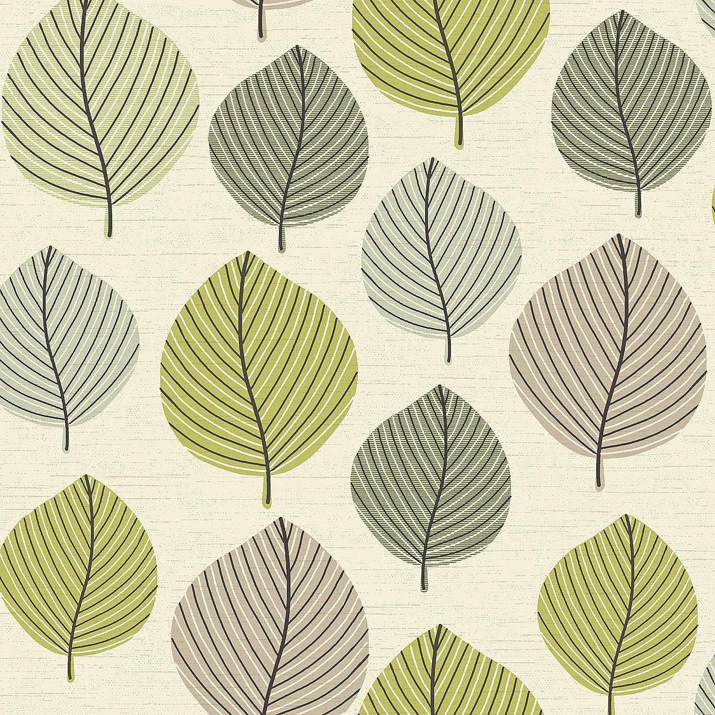 Regan Green Wallpaper - Dunelm