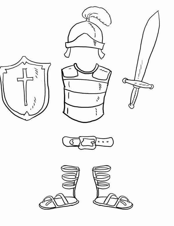 Armor of god crafts and activities, printable postcards