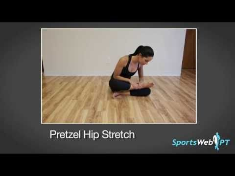 Gluteus Medius Stretch (Seated) - YouTube