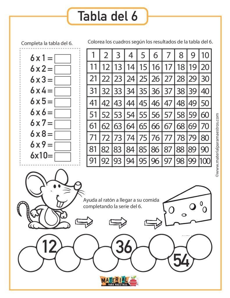 Cuadernillo De Evidencias De Matemáticas 6 - Super cuadernillo para trabajar las tablas de multiplicar ...