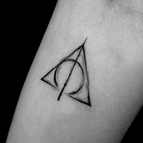 Deathly Hallows Sketch Tattoos For Guys Arm Tattoos For Guys Unique Tattoos For Men