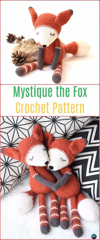 Crochet Amigurumi Fox Free Patterns & Tutorials | Patrones amigurumi ...