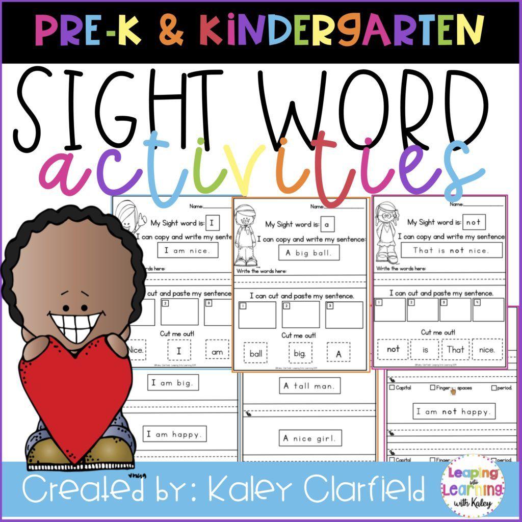Sight Word Activities For Kindergarten Is A Resource