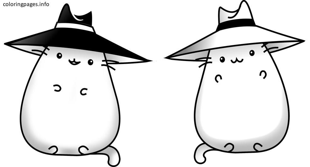 Pusheen the cat coloring pages pusheen the cat for Fat cat coloring pages