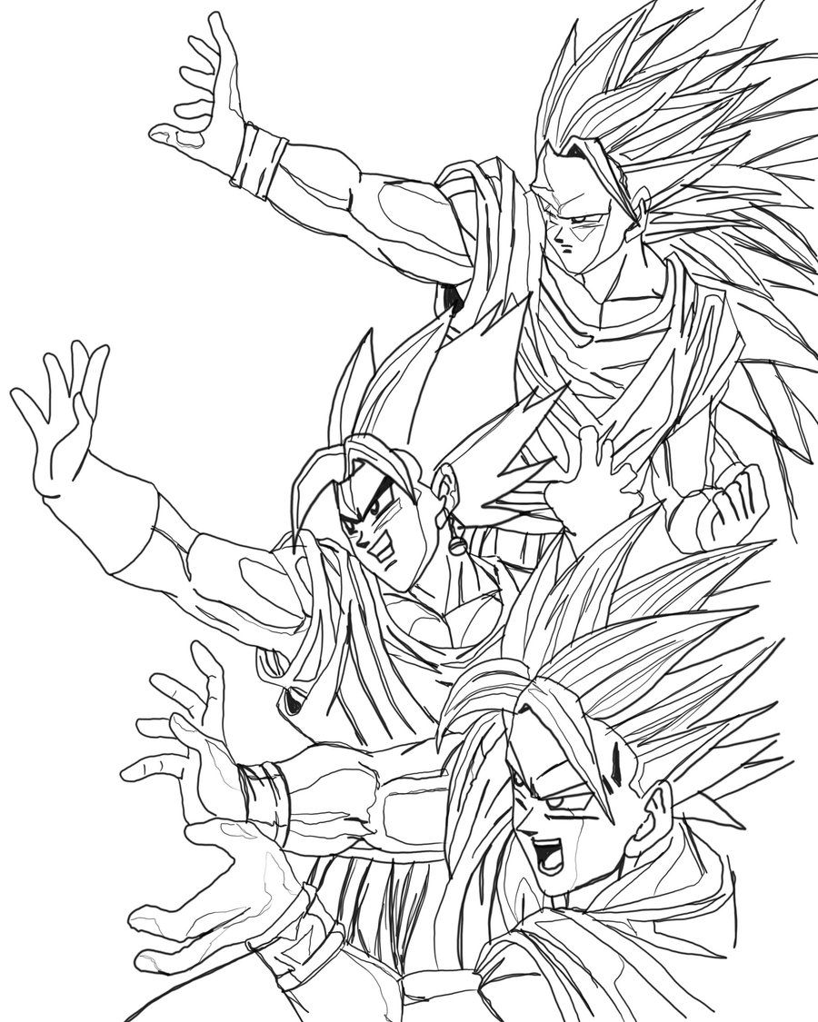 Dragon Ball Z Coloring Page | Coloring Pages of Epicness | Pinterest ...