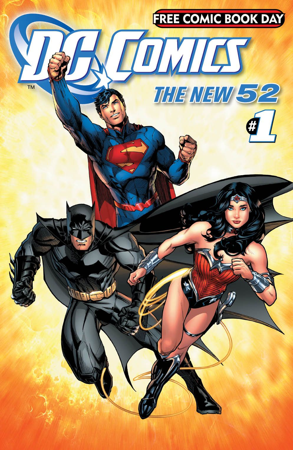 The Cover For DC Comics Free Comic Book