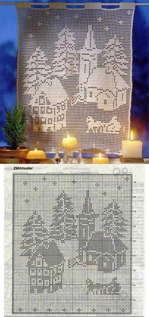 Filet Crochet Christmas Filet Crochet Filet Haken Pinterest