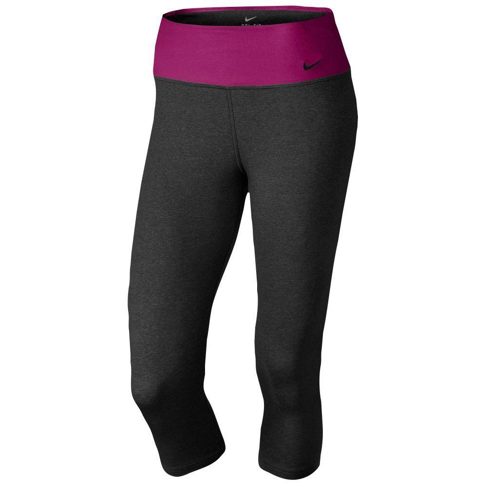 592fb8c1a4f8c Nike Legend 2.0 Tight Dri-Fit Cotton Capris - Women's - Training - Clothing  - Black Heather/Red Violet