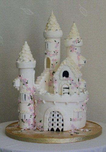 Small Adult Cinderella Castle Birthday Cakes Tier Castle