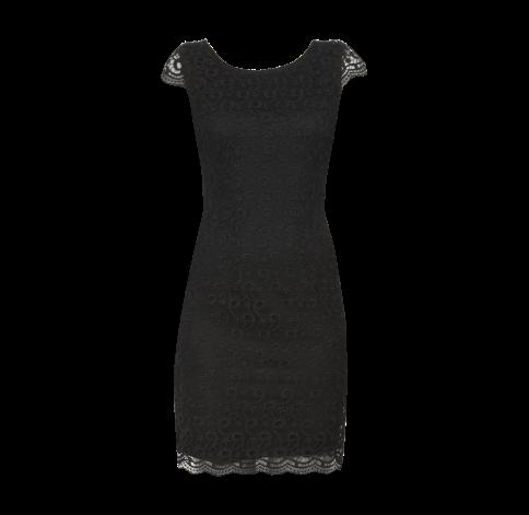S oliver selection kleid spitze grau