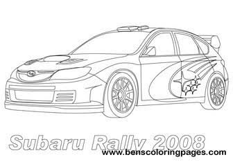 subaru outback coloring pages - photo#5